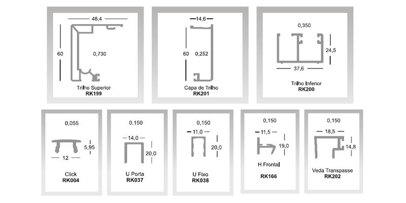 Perfis Kit Engenharia 10mm - Rkit